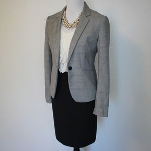 EXPRESS Size 4 Skirt Suit Black Gray Blazer Skirt